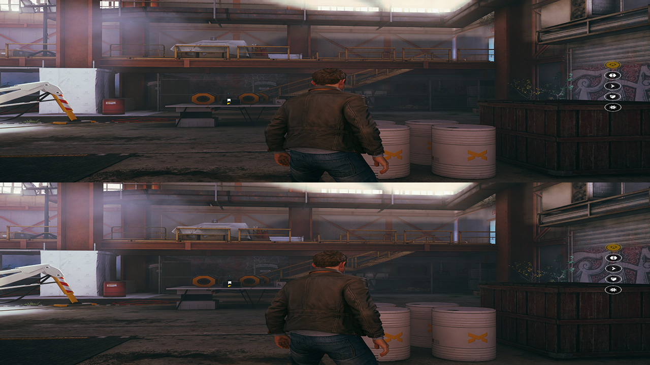 Quantum Break 3D SBS mode: Top and Bottom