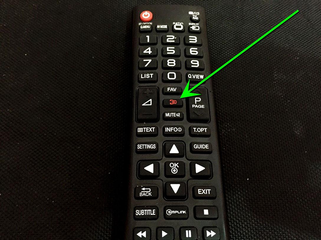3DTV remote